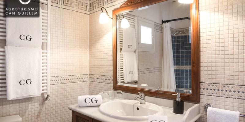 Baño Habitación doble - Hotel Rural en Ibiza